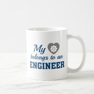 Heart Belongs Engineer Coffee Mug