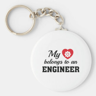 Heart Belongs Engineer Keychain