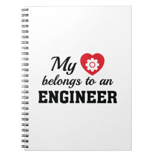 Heart Belongs Engineer Notebook