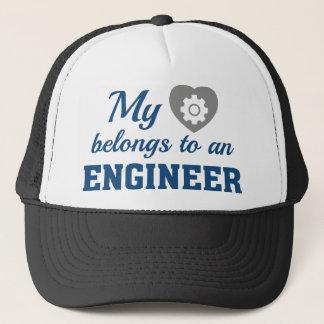 Heart Belongs Engineer Trucker Hat