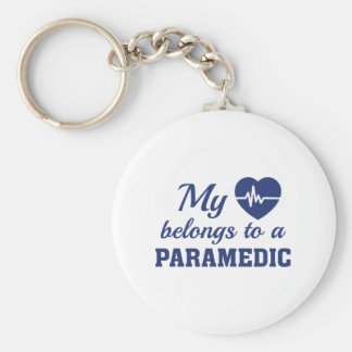 Heart Belongs Paramedic Keychain