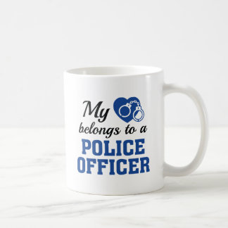 Heart Belongs Police Officer Coffee Mug