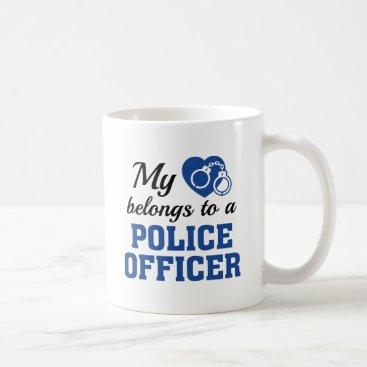 Valentines Themed Heart Belongs Police Officer Coffee Mug