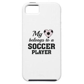 Heart Belongs Soccer iPhone SE/5/5s Case