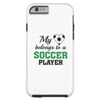 Heart Belongs Soccer Tough iPhone 6 Case
