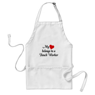 Heart belongs to a bench Worker Adult Apron