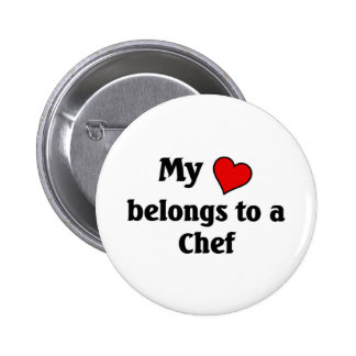 Heart belongs to a chef 2 inch round button