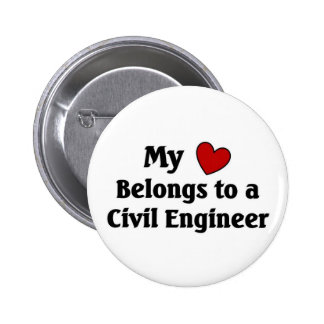Heart belongs to a Civil Engineer 2 Inch Round Button