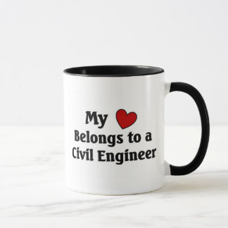 Heart belongs to a Civil Engineer Mug