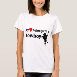 Heart belongs to a Cowboy.jpg T-Shirt