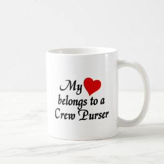 Heart belongs to a Crew Purser Coffee Mug