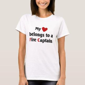 Heart belongs to a fire captain T-Shirt