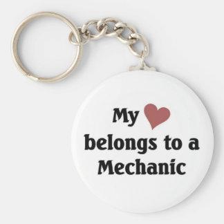 Heart belongs to a mechanic keychains