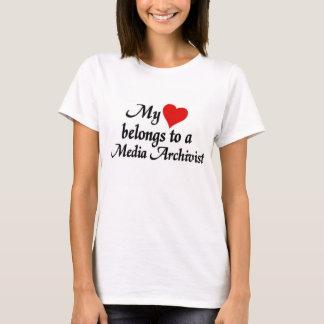 Heart belongs to a Media Archivist T-Shirt