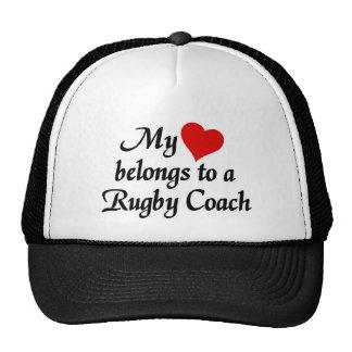 Heart belongs to a Rugby Coach Trucker Hat
