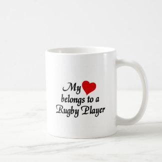 Heart belongs to a Rugby Player Coffee Mug