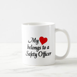 Heart belongs to a safety officer coffee mug