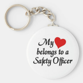 Heart belongs to a safety officer keychain