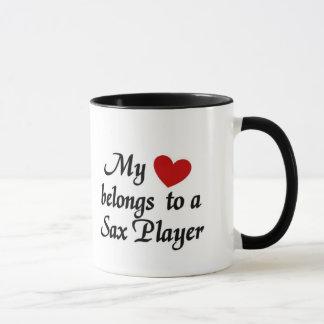 Heart belongs to a Sax Player Mug