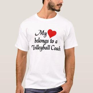 Heart belongs to a Volleyball Coach T-Shirt
