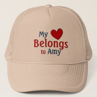 Heart belongs to amy trucker hat