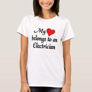 Heart belongs to an Electrician T-Shirt