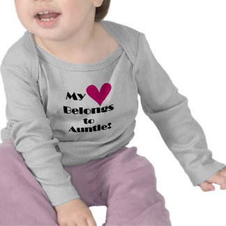 Heart Belongs to Auntie Tshirts and Gifts