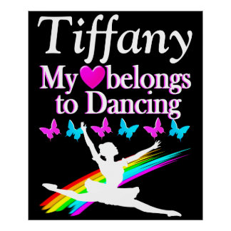 HEART BELONGS TO BALLET PERSONALIZED POSTER