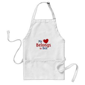 Heart belongs to ben adult apron
