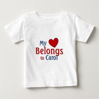 Heart belongs to carol baby T-Shirt