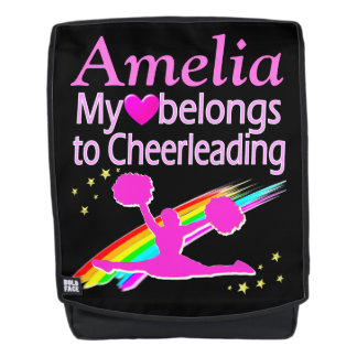 HEART BELONGS TO CHEERLEADING CUSTOM BACKPACK