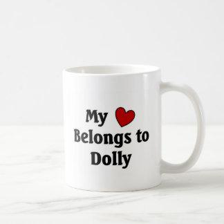 Heart belongs to dolly coffee mug