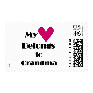 Heart Belongs to Grandma T-shirts and Gifts Stamp