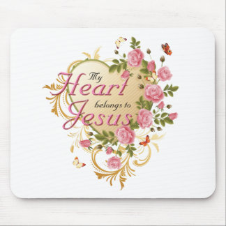 Heart belongs to Jesus Mouse Pad