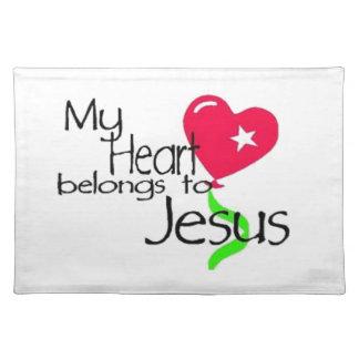Heart belongs to Jesus Placemat