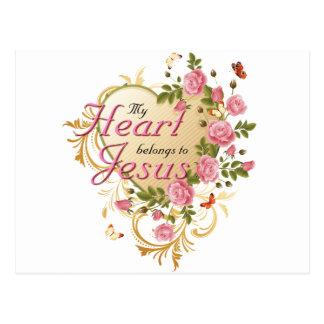 Heart belongs to Jesus Postcard