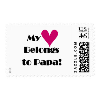 Heart Belongs to Papa Tshirts and Gifts Postage