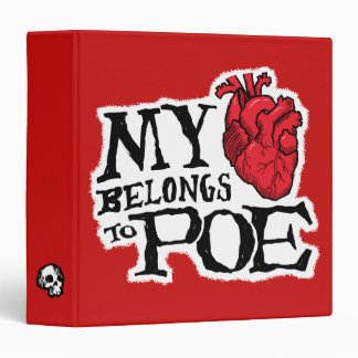 Heart Belongs to Poe 3-Ring Binder
