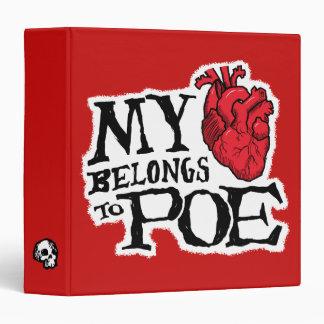 Heart Belongs to Poe 3-Ring Binder