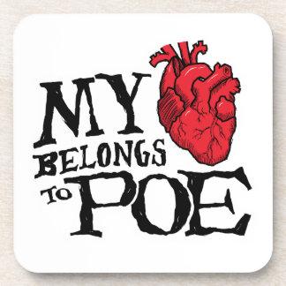 Heart Belongs to Poe Coasters