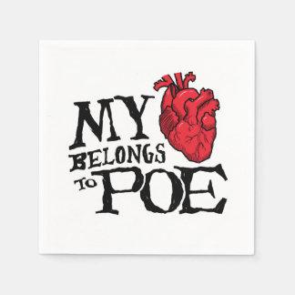 Heart Belongs to Poe Paper Napkins