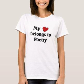 Heart belongs to Poetry T-Shirt