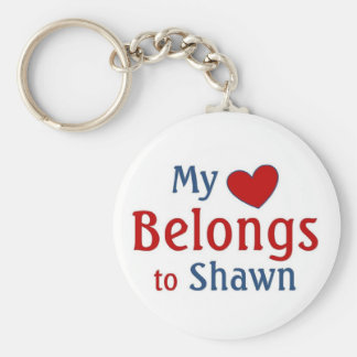 heart belongs to Shawn Basic Round Button Keychain