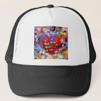 Heart beside small hearts love each others trucker hat