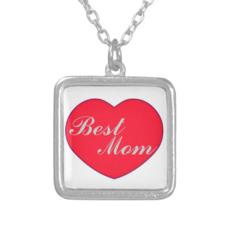 Heart Best Mom Necklace Square Pendant Necklace