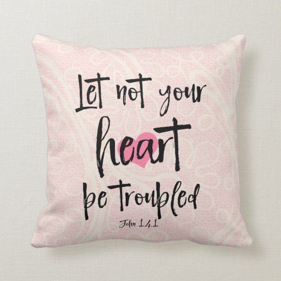 Heart Bible Verse Throw Pillow