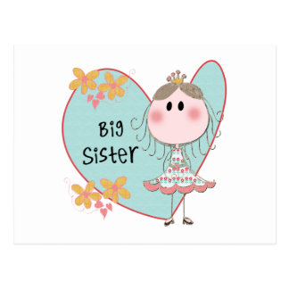 Heart Big Sister Postcard