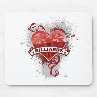 Heart Billiards Mouse Pad