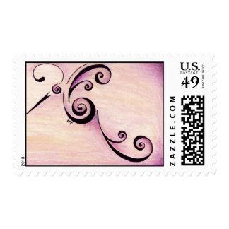 Heart Bird Stamps