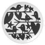 Heart Birds Plates
